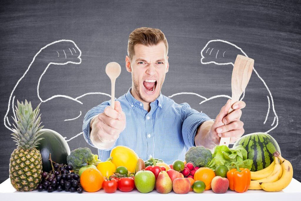 Belleza hombres comer sano