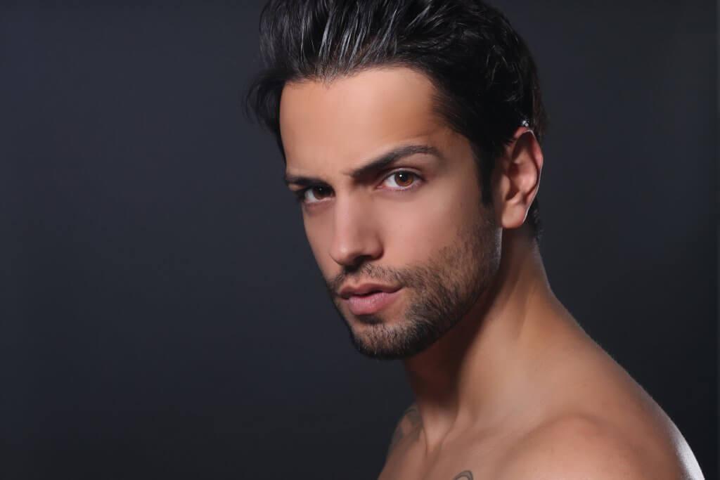 Belleza hombre pelo cuidado